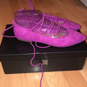 NWT Forever21 Cute Lace-Up Flats